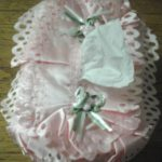 Pink Lace Tissue Box Cover