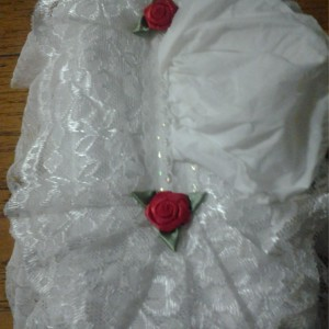 White Lace Tissue Box Cover