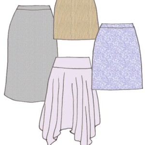 Flare skirts, pattern 5201