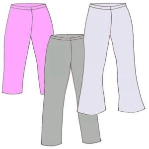 Elastic waist slacks, pattern 5301