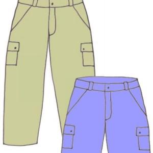 Boys carpenter pants/shorts,pattern 6106