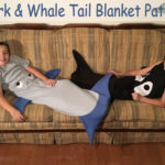 Shark and Whale Tail Blankets