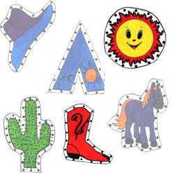 Cowboy EZ Sew Sewing Cards