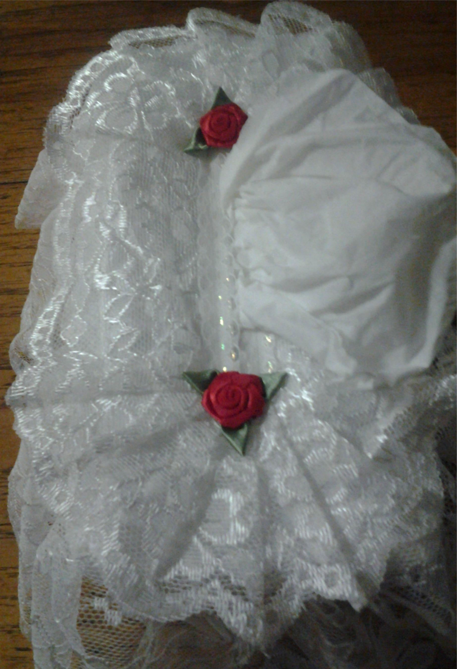 White Lace Tissue Box Cover