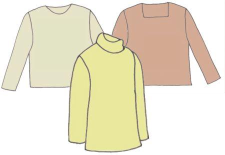 Long Sleeve Tops, Pattern 5103