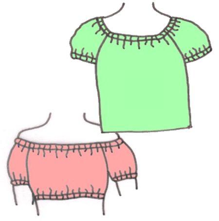 Modernized Peasant Blouses Pattern 5105