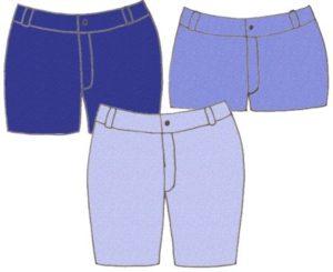 Denim shorts,pattern 5305