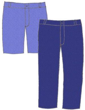Denim jeans/shorts, pattern 6105