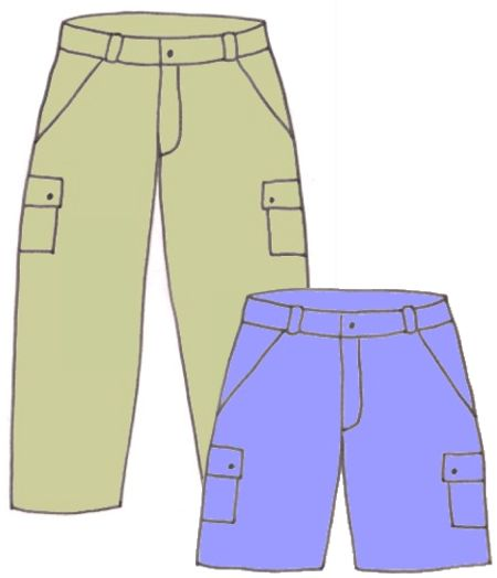 Boys carpenter pants/shorts,pattern 6106